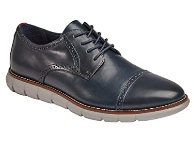 Johnston & Murphy Milson Cap Toe (Navy Full Grain Leather) Men