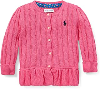 ralph lauren peplum cotton cardigan