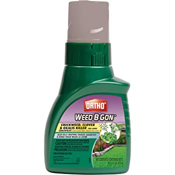 Ortho Weed B Gon Chickweed, Clover & Oxalis Killer for Lawns Concentrate, 16 oz.