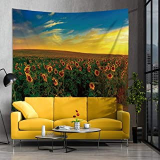 Jhdstore Sunflower Tapestry Wall Art Hanging Mandala Tapestries Polyester Bohemian Wall Art Tapestry (51x59inch, sunflower)
