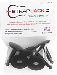 Strap Jack SJ-3 Guitar Lock System for Acoustic Electric Guitars, 3 Piece
