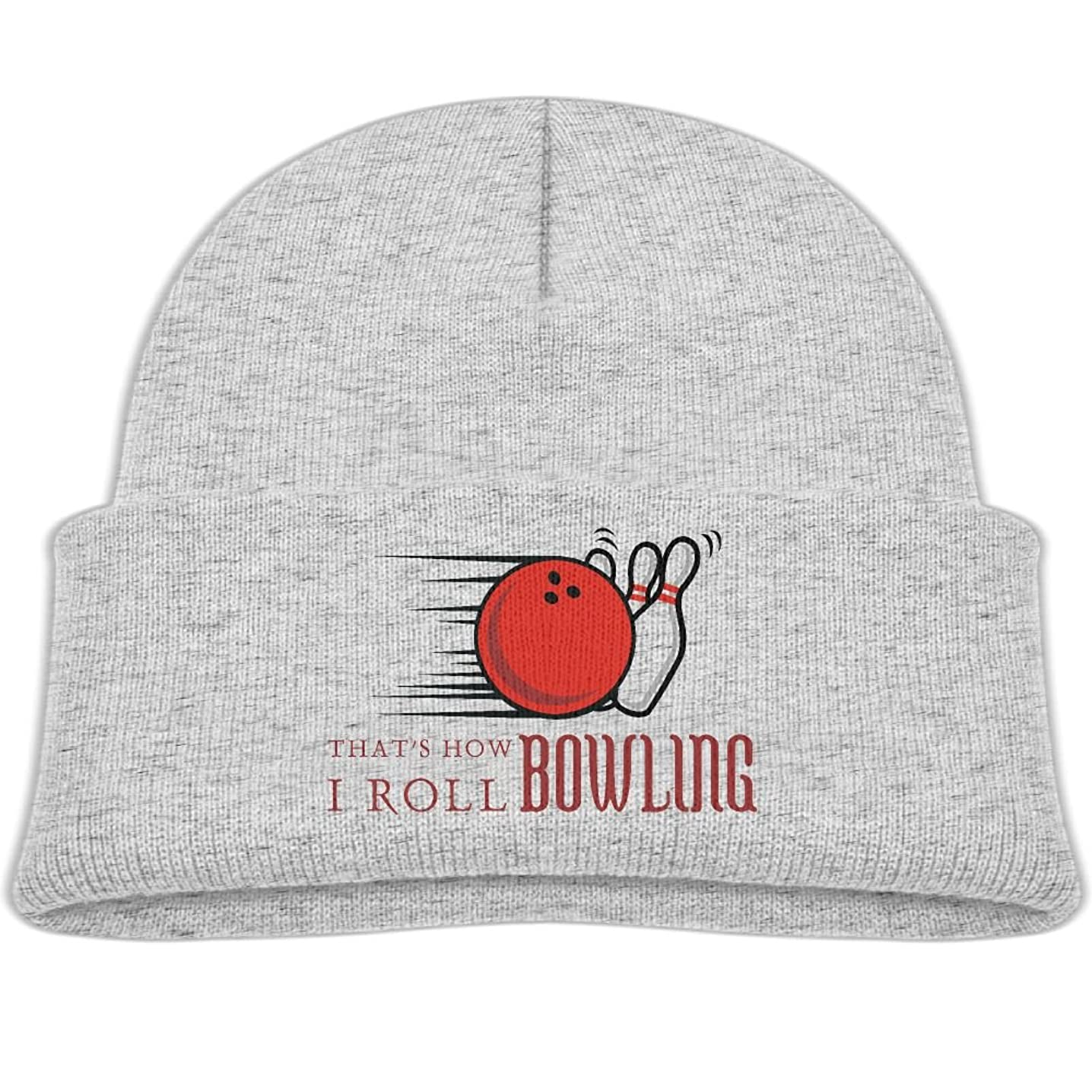 Qiop nee Baby Beanie Hats Soft Knit Cap That's How I Roll Bowling Boys Girls