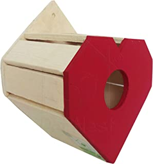 PetNest RED Heartshape Nest Box and Bird House for Sparrow and Garden Birds