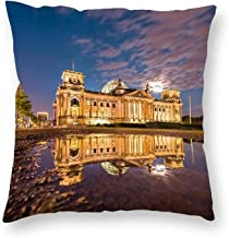 Decorative Pillow Covers Reichstag, Berlin Throw Pillow Case Cushion Cover Home Office Decor,Square 16 X 16 Inches