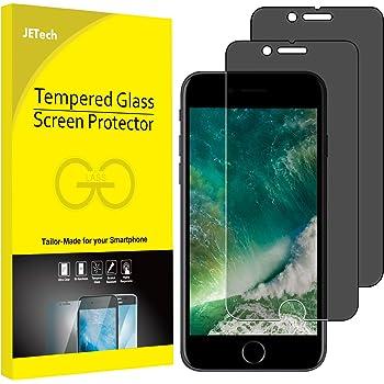 JETech Protector de Pantalla para iPhone 8 Plus y iPhone 7 Plus, Privacidad Funciona, Vidrio Templado, 2 Unidades