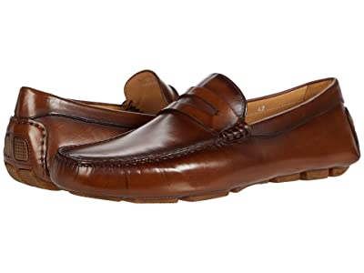 Canali Shaded Calfskin Driver (Cognac) Men