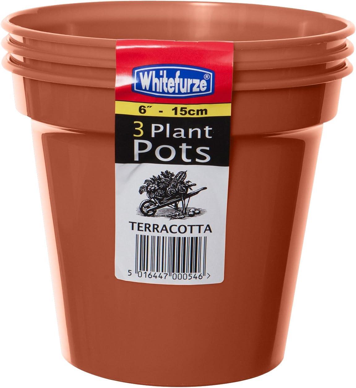 60 Whitefurze Small 7.5cm Seed Plant Pots Terracotta Colour Plastic Pots