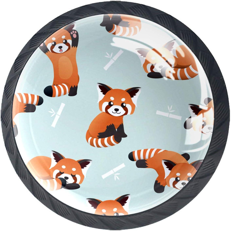 Door Knobs Cute Orange Panda Bamboo P Lovely Drawer Handle New Translated Shipping Free