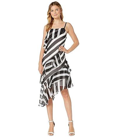 Kenneth Cole New York Bias Slip Dress (Bold Stripe Black) Women