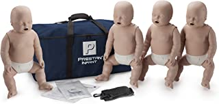 Prestan Professional Infant CPR-AED Training Manikins 4- Pack Medium Skin (without CPR Monitor)