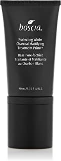 boscia Porefecting White Charcoal Mattifying Treatment Primer – Vegan Makeup Face Primer with Binchotan and Witch Hazel for Oily Skin, 40mL