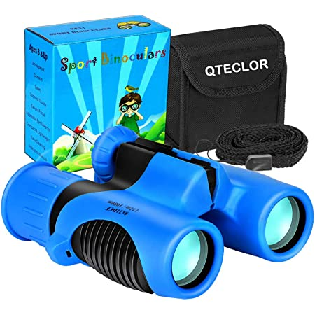 Preschool Science Toy for 3-12 Years Toddler Mini Compact Zoo Binoculars Toys with Compass for Boys and Girls Cute Parrot Telescope for Zoo Traveling Hzran Binoculars for Kids