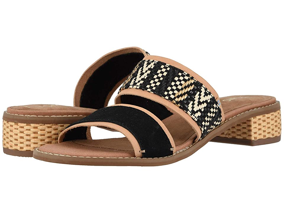 81ac52733 TOMS Mariposa (Black Suede Geometric Woven) Women s Sandals