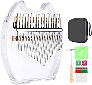 Neewer Kalimba 17 keys Thumb Piano, Mbira Finger Piano with Protective Box, Tuning Hammer & Study Instruction, Musical Ins...