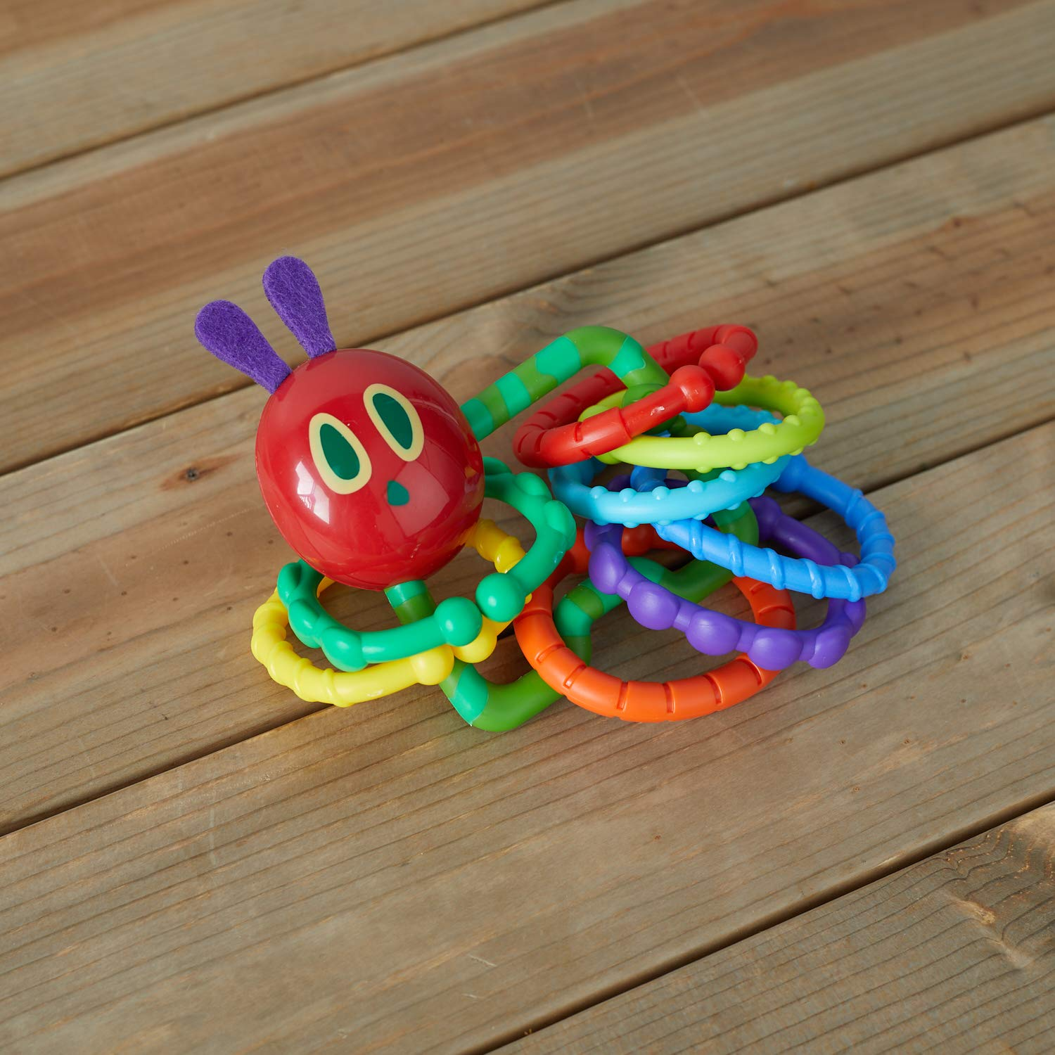 The Very Hungry Caterpillar Rattle Teether with Links The World of Eric Carle 96901 World of Eric Carle