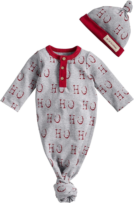 Mud Pie Baby Christmas Take Me Home Set, Gray, 0-3 Months