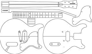 Electric Guitar Routing Template - LP JR DC 24.625