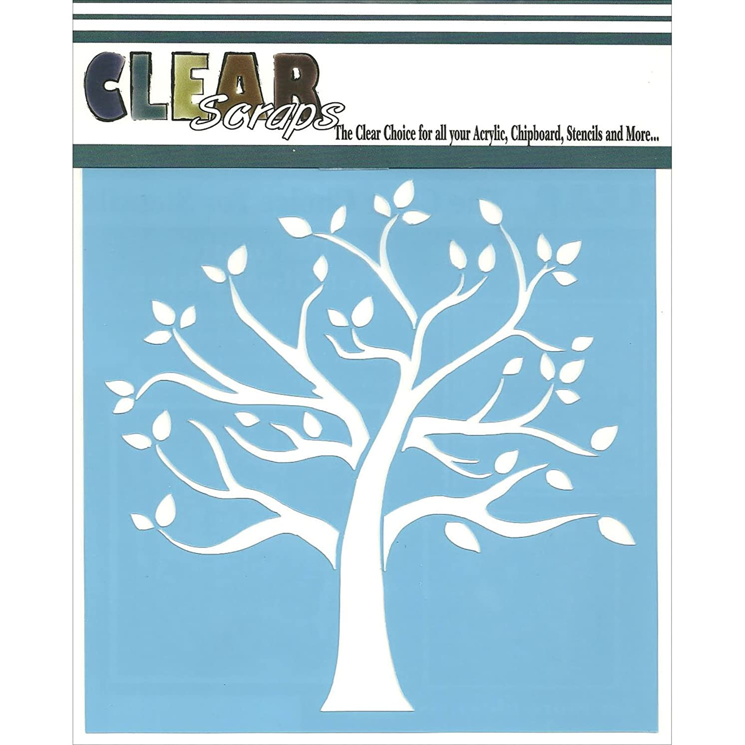 CLEARSNAP Clear Scraps CSSM6-FMTRE Family Tree Stencils, 6 by 6