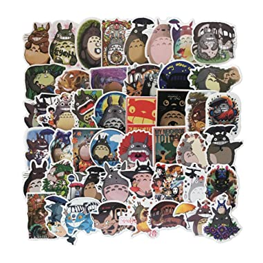 Homyu Stickers 50-Pcs PVC Anime Decals Waterproof Sunlight-Proof DIY Ideals for Cars Motorbikes Skateboard Spinner Luggages Laptops