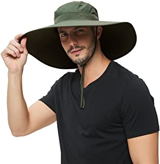 Super Wide Brim Sun Hat-UPF50+ Waterproof Bucket Hat for Fishing, Hiking, Camping