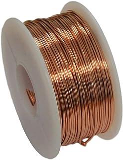 Solid Bare Copper Round Wire 5 Oz Spool Dead Soft 12 to 30 Ga (16 Ga / 43 Ft)
