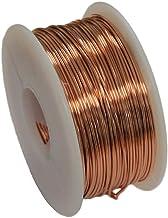Solid Bare Copper Round Wire 5 oz Spool Half Hard 12 to 30 Ga (12 Ga – 18 Ft)