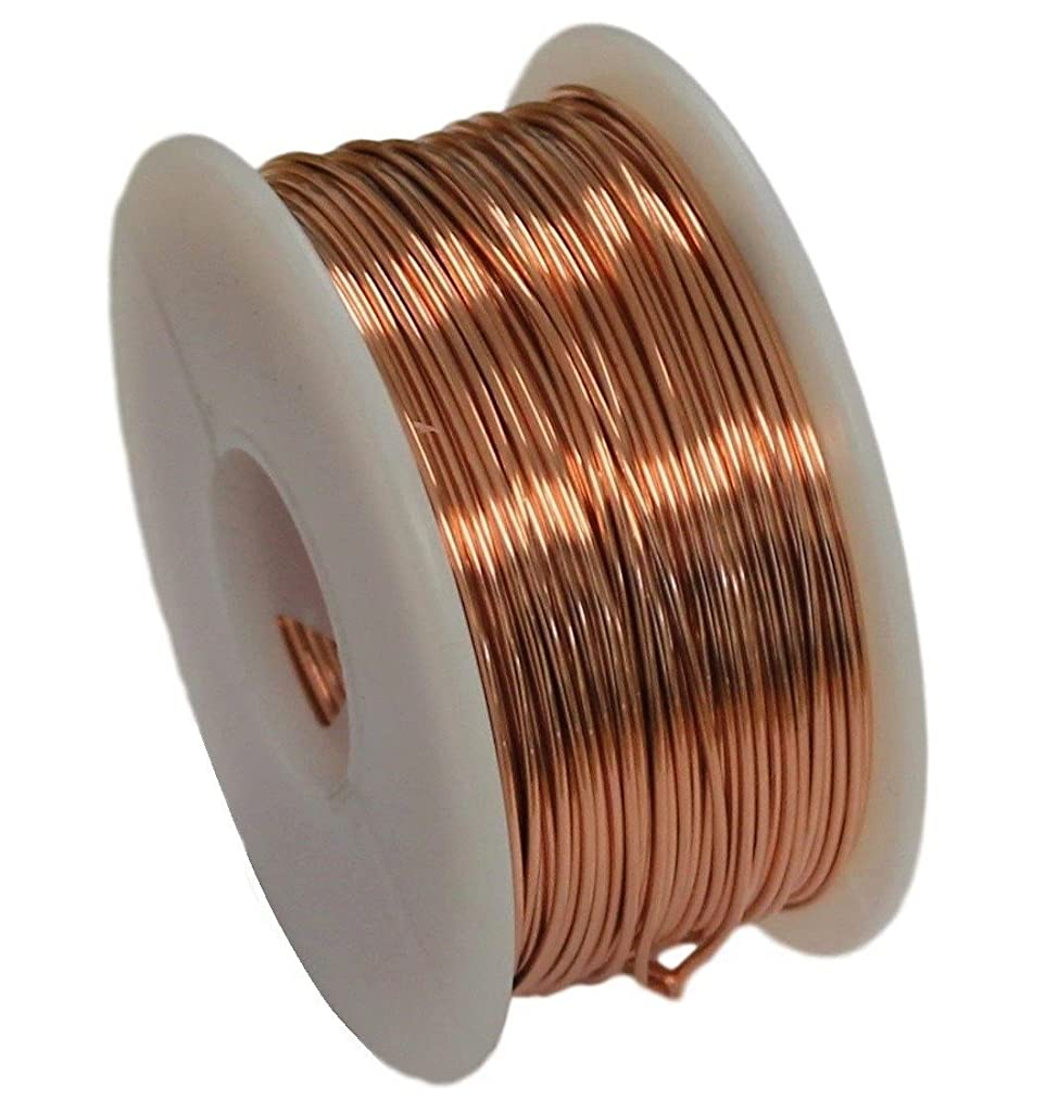 Solid Bare Copper Round Wire 5 oz Spool Half Hard 12 to 30 Ga (20 Ga - 108 Ft)