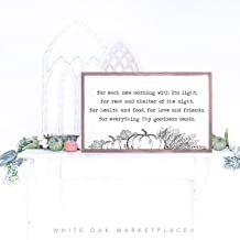 for Each New Morning Emerson Prayer Thanksgiving Sign Emerson Quote Inspired Quote Sign Quote Dinning Room Sign Farmhouse Sign