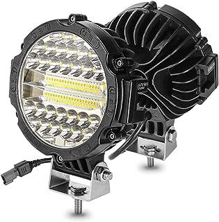 Round Led Light Pods 7 Inch BEAMCORN Off Road Lights 213W Spot Flood Combo Light Bars Driving Lamp Headlight Fog Lights for Trucks ATV UTE UTV SUV Jeep Wrangler XJ TJ JK RZR Black-2 of Pack