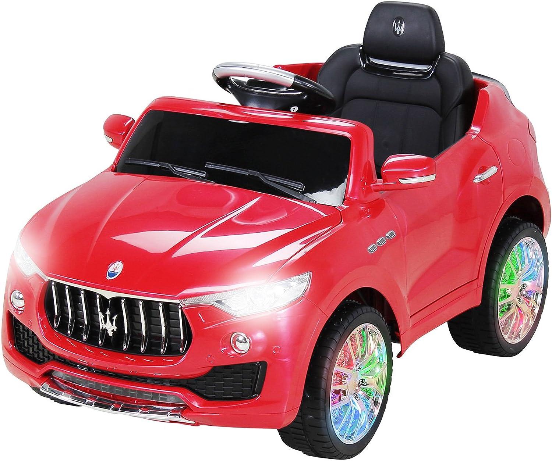 Actionbikes Motors Kinder Elektroauto Maserati Levante SUV Lizenziert Original Kinderelektroauto Kinderfahrzeug Auto (Rot)