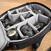 Compatible con Sony Canon Nikon tr/ípode de Lentes CADeN Mochila C/ámara R/éflex con Compartimento para Laptop de 15.6 pulgadasProfessional para DSLR//SLR C/ámara sin Espejo a Prueba de Agua