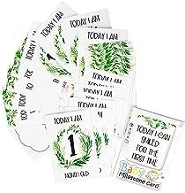 Inntek 24 pcs Baby Milestone Cards, Regalo Babyshower, Hito de Bebé, Tarjeta de Momento de Bebé, Recuerdo de Bebé 10.16 * 15.24CM para Primer Año de Bebé Regalo Conmemorativo