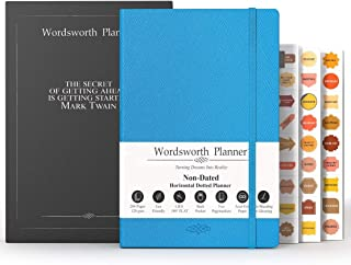 $29 » Wordsworth 2020 Undated Bullet Planner- Dotted Organizer Business Journal-Weekly Monthly Yearly Spread -Hardcover, 5.83 × 8.27In, Thick Premium A5 Paper (120GSM), Pen Loop, Inner Pocket