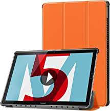 Huawei MediaPad M5 10.8 inch Case, Huawei MediaPad M5 8.4 inch Case, Gylint Smart Case Trifold Stand with Auto Sleep/Wake for Huawei MediaPad M5 8.4/10.8 inch Tablet (Orange, M5 8.4 inch)
