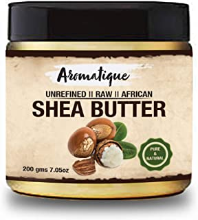 Aromatique African Shea Butter Yellow Smooth All Natural, Unrefined Daily Skin Moisturizer For Face & Body Softens Tough S...
