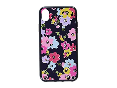 Kate Spade New York Jeweled Wildflower Phone Case for iPhone XR (Navy Multi) Cell Phone Case