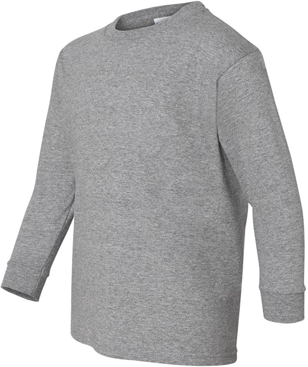 Youth Heavy Cotton Long Sleeve T-Shirt (Sport Grey) (Large)