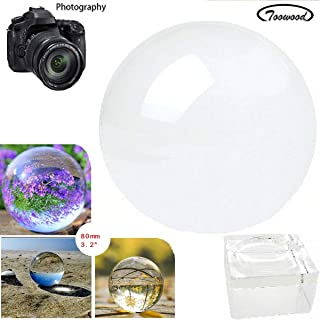K9 Crystal Ball Drop Prisms Optical Glass Triangular Prism Pyramid for Photography Decoration Birthday Gift Teaching (Dia 80mm/3.15