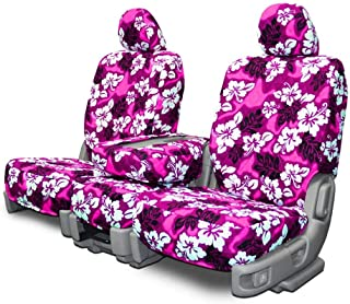 Custom Seat Covers for Honda Fit-Jazz Front Low Back Seats - Pink Hawaiian