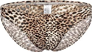 YOOBNG Sexy Men Lingerie Leopard Print Bikini Briefs Bottom Underwear Underpants