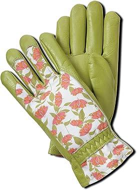 Magid BE268T Bella Floral Back Grain Palm Garden Glove, Small