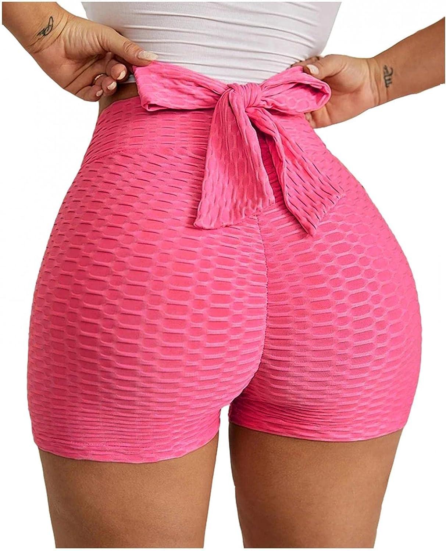 Hotkey Yoga Shorts for Women, Women's High Waist Short Leggings Butt Lift Workout Shorts Scrunch Textured Booty Yoga Pants