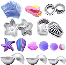 Bath bomb mold kit,Yotako DIY Metal Bath Mould Bomb Shapes 6 Sets 12 Pieces with 50 Shrink Warp Bags and 1 Pieces Mini Heat Sealer for Bath Bomb Making,Handmade Soaps and Crafts