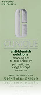 Clinique Acne Solutions Cleansing Bar for Face & Body 150g/5.2Ounce - All Skin Types, 1 Ounce