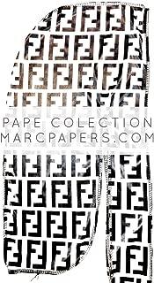 Pape Collection | Premium Luxury Silk Material | Designer Durag for Men | Black & White Fendi Print | 100% Super Stretchy Elastic | Seamless Stitches | Luxury Fashion Design | Perfect for 360 Waves
