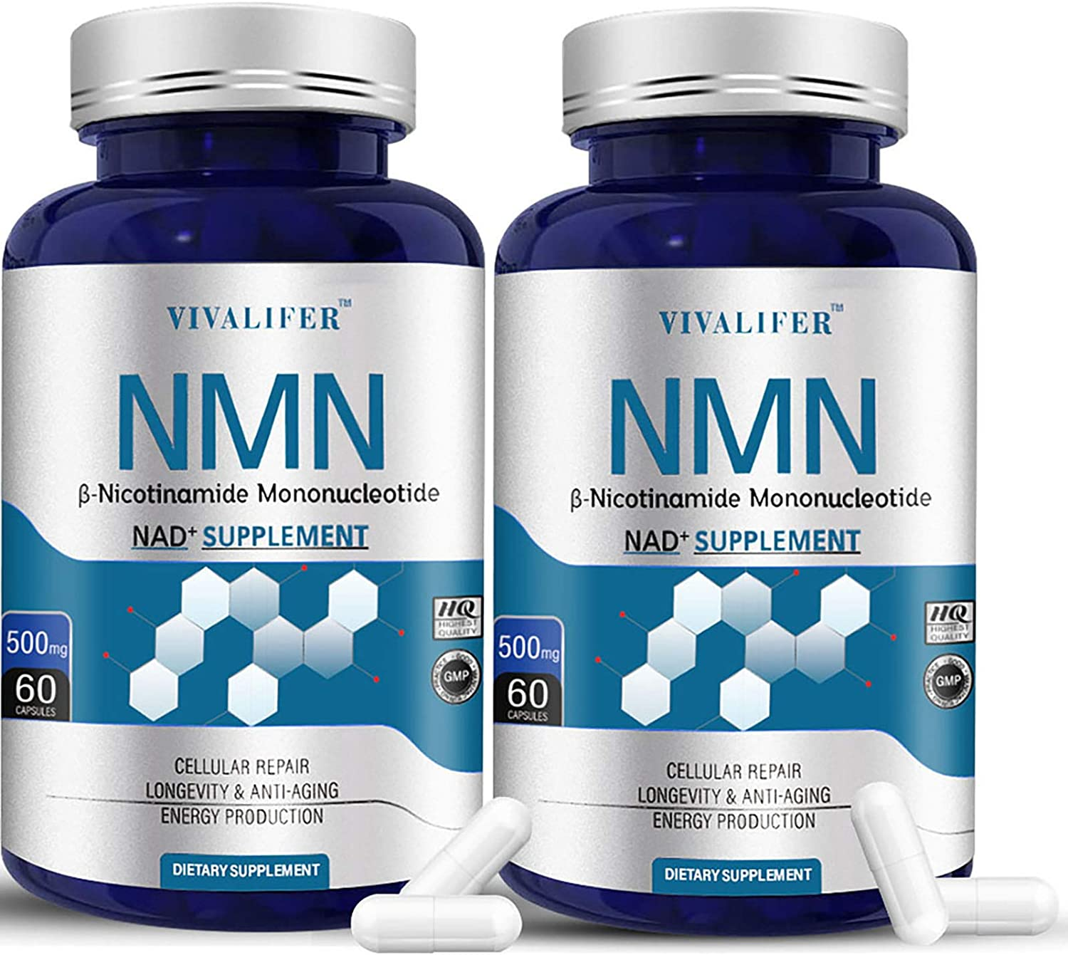2 Credence Pack NMN Supplement 500MG Mononucleotide Nicotinamide Max 52% OFF Capsule
