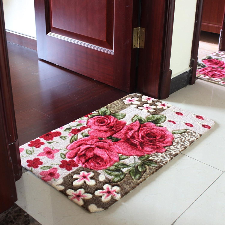 Indoor Mats Door Mat at The Door Restroom,Mats in The Hall Bedroom,Bathroom,Household Use,Absorbent,Bathroom Non-Slip Mats-A 100x150cm(39x59inch)