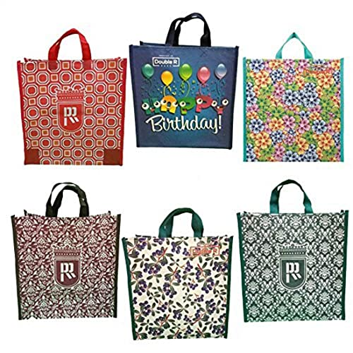 e106bf97210 DOUBLE R BAGS Cotton Shopping Bag Tote Carry Reusable Grocery Bags (Multi  Colour) -