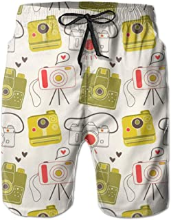 Men's Boy's Casual Novelty Beach Short Portrait Collection Swimming Trunks