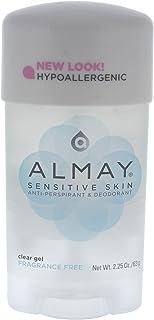 Almay Sensitive Skin Clear Gel Anti-Perspirant & Deodorant, Fragrance Free, 2.25 Ounce